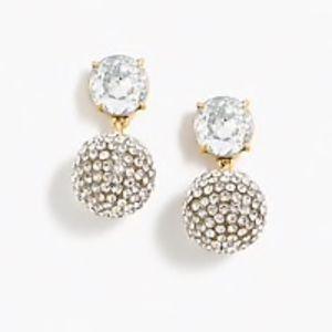 J. CREW Clear Crystal Earrings